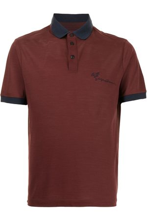Armani Men Polo Shirts - Cursive logo polo shirt