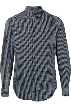 Armani Zigzag print cotton shirt
