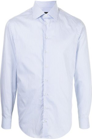 Armani Men Long Sleeve - Stripe print cotton shirt