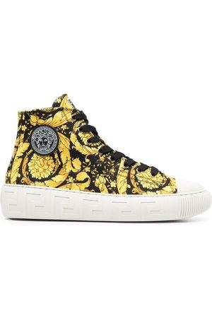 VERSACE Barocco-print high-top sneakers