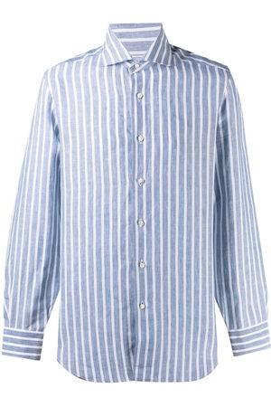 BARBA Men Long Sleeve - Striped linen shirt