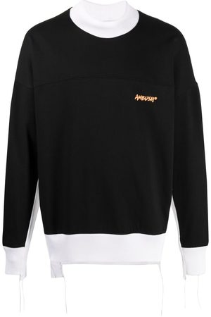 AMBUSH Two-tone logo-print sweatshirt
