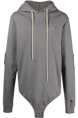 Rick Owens Men Hoodies - Bodysuit-style hoodie