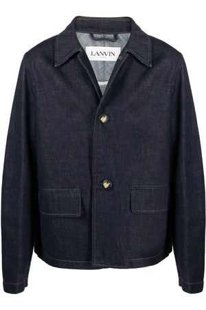 Lanvin Logo-embossed buttons denim jacket