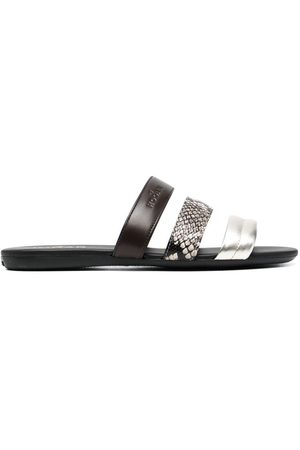 Hogan Valencia contrast leather-strap sandals