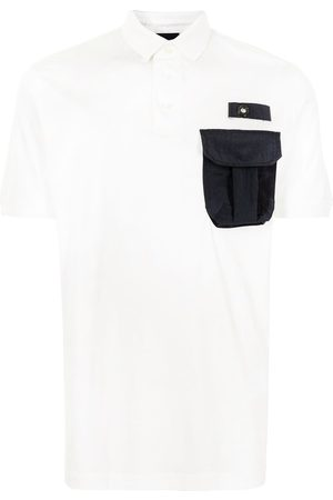 Emporio Armani Men Polo Shirts - Cargo-pocket polo shirt