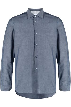 Manuel Ritz Spread-collar cotton shirt