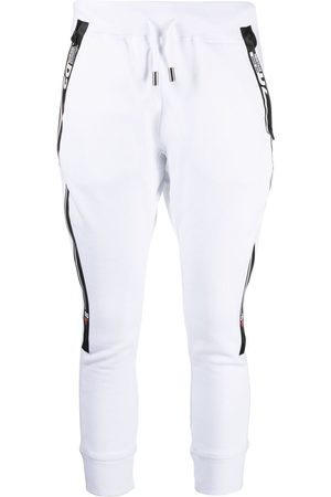Dsquared2 Logo-tape cropped track pants