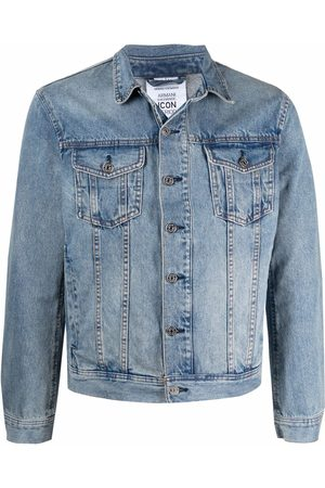 Armani Men Denim Jackets - Graphic-print denim jacket