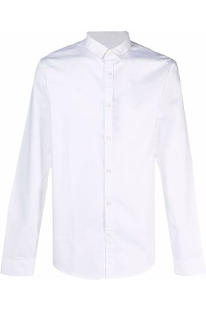 Armani Logo-embroidered collar shirt