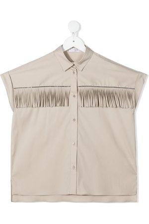 Brunello Cucinelli Fringe-trim shirt