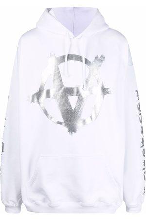 Vetements Men Hoodies - Anarchy Gothic logo-print hoodie