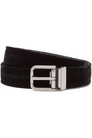 Dolce & Gabbana Velvet leather belt