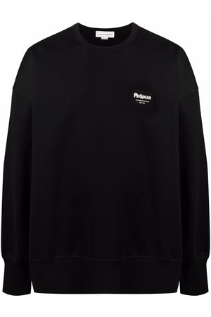 Alexander McQueen Men Sweatshirts - Logo-patch sweatshirt