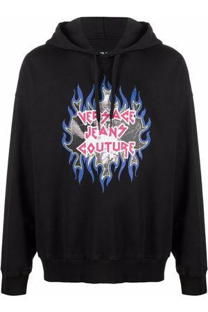 VERSACE Rock logo-print hoodie
