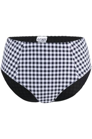 Ganni Women Bikinis - Check print bikini bottoms