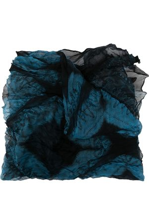 Issey Miyake Scarves - 2000s silk embroidered scarf