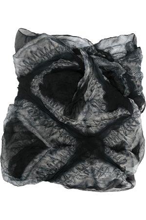 Issey Miyake Scarves - 2000s silk printed scarf