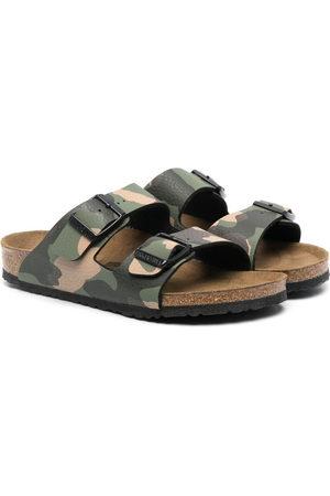 Birkenstock Arizona camouflage print sandals