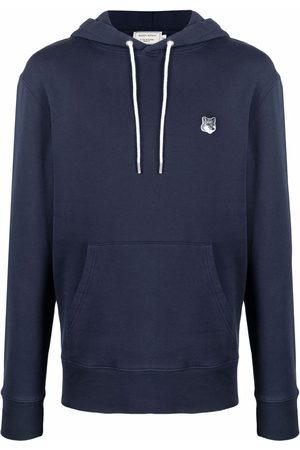 Maison Kitsuné Men Hoodies - Logo-patch cotton hoodie