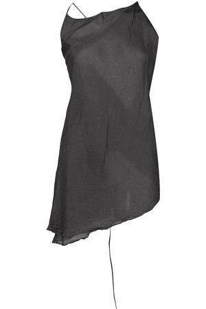 MARC LE BIHAN Women Tank Tops - Asymmetric silk top