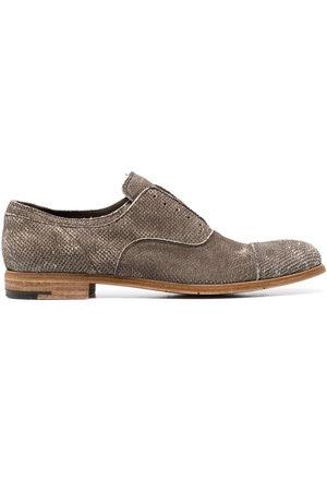 Premiata Men Footwear - Distressed-effect laceless oxford shoes