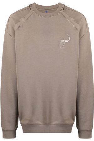 Ader Error Men Sweatshirts - Kaput logo-embroidered cotton sweatshirt
