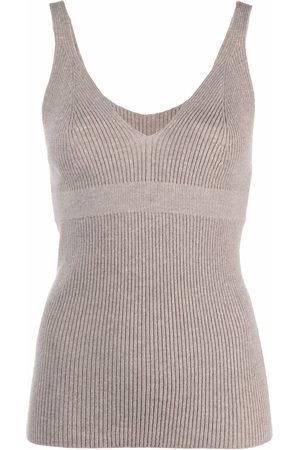 AMI AMALIA Women Vests - Ribbed-knit vest top