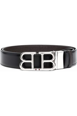Bally Men Belts - Logo-plaque leather belt