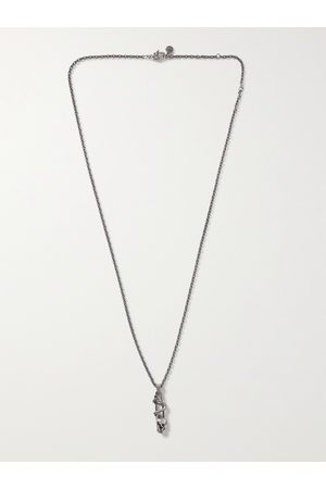 Alexander McQueen Burnished -Tone Pendant Necklace