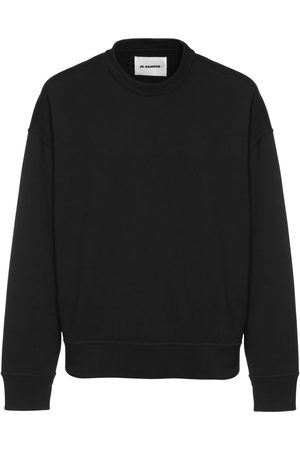Jil Sander Men Sweatshirts - Logo Embroidered Cotton Sweatshirt