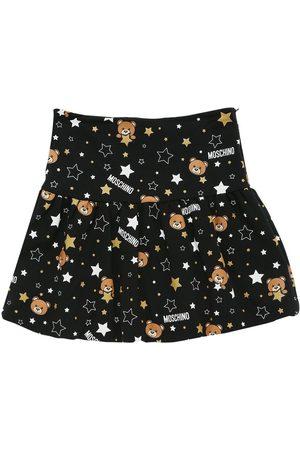 Moschino All Over Print Cotton Interlock Skirt