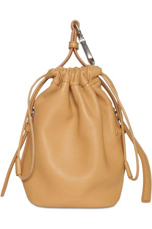 Jil Sander Drawstring Hook Leather Pouch