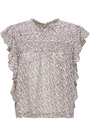 Isabel Marant Layona Printed Cotton Top
