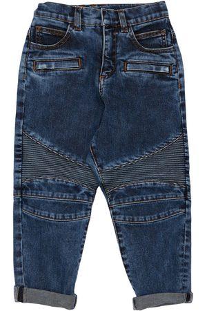 Balmain Girls Jeans - Stretch Cotton Biker Jeans