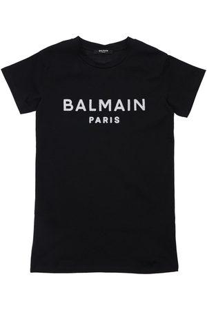 Balmain Girls Printed Dresses - Organic Cotton S/s Dress