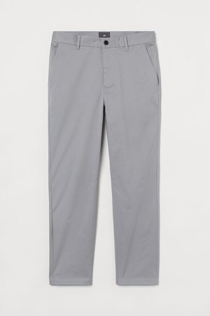 H&M Slim Fit Cropped chinos - Grey