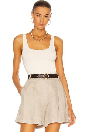 Totême Compact Knit Tank in Ivory