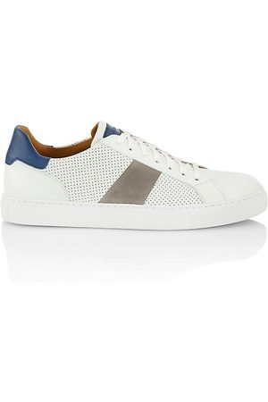 Saks Fifth Avenue COLLECTION Perforated Mix Media Leather Low-Top Sneakers