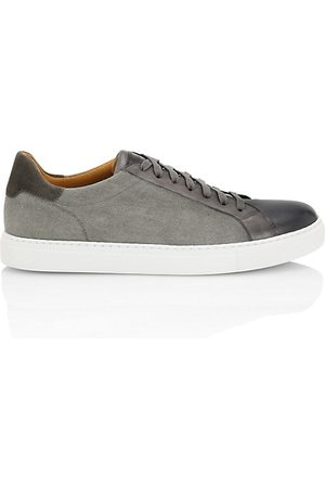 Saks Fifth Avenue Mix Media Leather Low-Top Sneakers