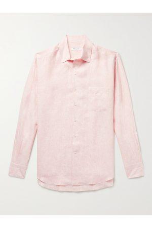 Loro Piana Men Short sleeves - Striped Linen Shirt