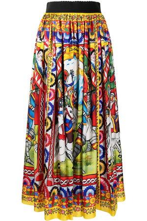 Dolce & Gabbana Carretto print midi skirt