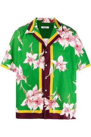 Valentino Lily print short-sleeve bowling shirt