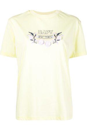 BAPY Bead-embellished logo appliqué T-shirt