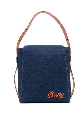 BAPY BY *A BATHING APE® Women Shoulder Bags - Logo-plaque denim shoulder bag