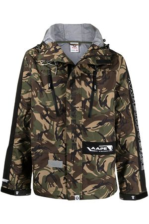 AAPE BY A BATHING APE Camouflage print hooded jacket