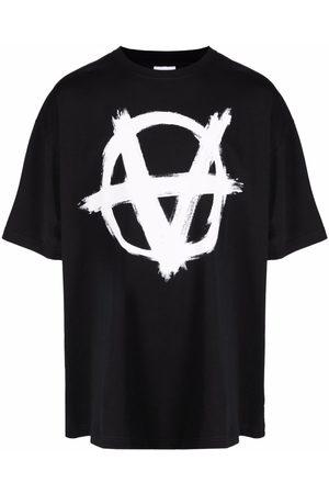 Vetements Men Short Sleeve - Graphic-print cotton T-Shirt