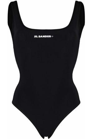 Jil Sander Women Swimsuits - + logo-print swimsuit