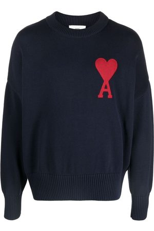 Ami Embroidered-logo long-sleeve jumper