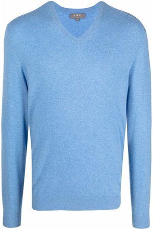 N.Peal Men Jumpers - V-neck cashmere jumper